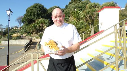 Andy Wilce, the head chef at the Spa Pavillion, Felixstowe, whose special batter is one of the main
