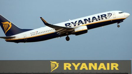 File photo dated 31/03/09 of a Ryanair jet taking off from Stansted Airport.. Photo: Chris Radburn/P