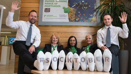 (L-R) Yorkshire Building Society colleagues James Paynter, Michelle Wright, Kiran Amin, Jackie Jenki