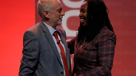 Labour leader Jeremy Corbyn and Shadow Minister for Women and Equalities Dawn Butler MP Picture: Pet