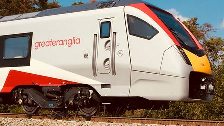 Greater Anglia's Stadler FLIRT train being tested in the Czech Republic. Picture: GREATER ANGLIA