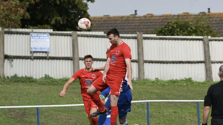Stowmarket's Ollie Canfer, on the scoresheet. Picture: DAVID WALKER