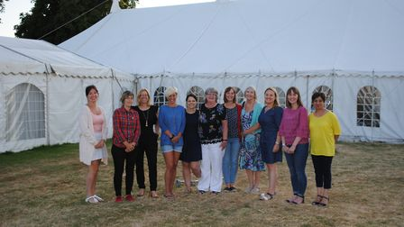 The committee of friends and family who have organised the ball at Athelington Hall on September 29.