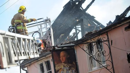The pub was badly damaged in the fire Picture: SU ANDERSON