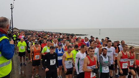 Over 400 people turned out to the road race on Sunday morning Picture: RACHEL EDGE