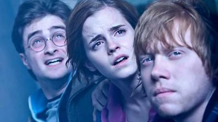 Harry Potter, Hermione and Ron in one of the famous movies. Pic: PA/EADT archive