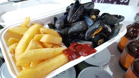 Mussels and chips were a popular option Picture: RACHEL EDGE