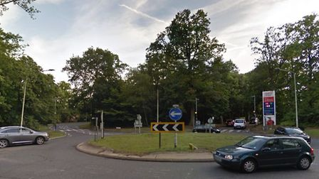 A roundabout in the Highwoods area of Colchester where a man is alleged to have committed several se