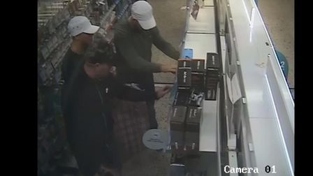 Police have released CCTV images following a theft from Boots in Sudbury Picture: SUFFOLK CONSTABULA
