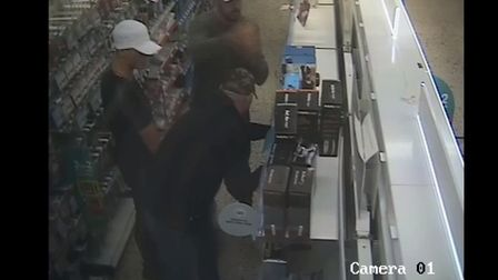 Police would like to speak the people depicted in the images in connection with the incident Picture