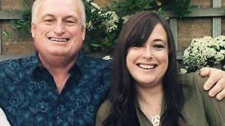 Conatminated blood campaigner Alan Burgess, from Ipswich, with his daughter Laura Lyons. Picture: FA