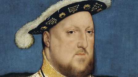 A Hans Holbein portrait of Henry VIII. The king enraged Suffolk textile workers with the notion of a