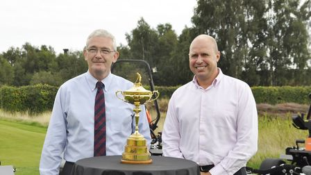 Senior director Alan Prickett and Golf sales manager Will Carr of Ransomes Jacobsen