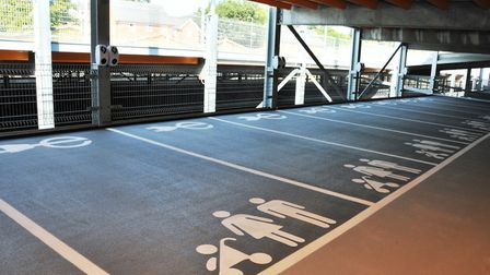 The electric charging points at the new Crown Car Park in Ipswich. Picture: IPSWICH BOROUGH COUNCIL