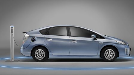 Plug-in hybrids, like this Toyota Prius, are becoming popular. Picture: TOYOTA