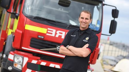 Chief fire officer Mark Hardingham pointed to improved availability at rural on-call fire stations P