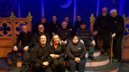Don Spall (far right) with the cast of this year's panto by the Company of Four Picture: COMPANY OF