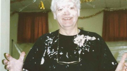 Don Spall in 1996, after being involved in a custard pie fight Picture: PAUL LEECH