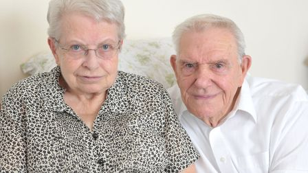 Ray and Jean Wright are celebrating their diamond wedding anniversary Picture: SARAH LUCY BROWN