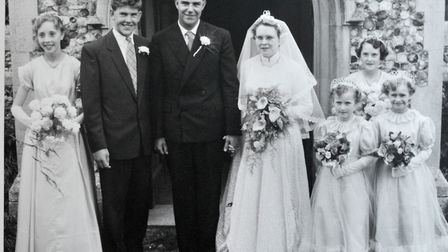 Ray and Jean Wright on their wedding day.