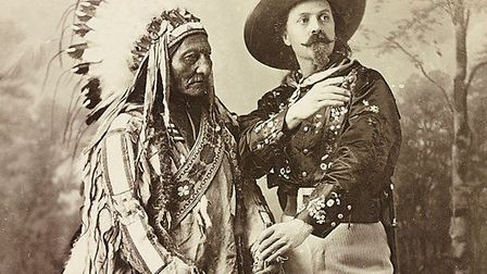 Sitting Bull and Buffalo Bill in 1885. Picture: US Library of Congress