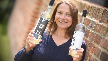 Flint and Harding Vodka and Gin. Pictured is Chrissie Charie. Picture: GREGG BROWN