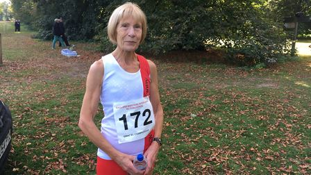 Angela Copson who took part in the England Masters Inter Area Cross Country Challenge. Picture: RUSS
