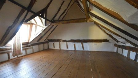 Beams give a feeling of history in this cottage in Stoke by Clare. Picture: DAVID BURR
