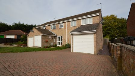 This end terrace house in Hillston Close, Colchester, is available for £259,995 from Elms Price & Co