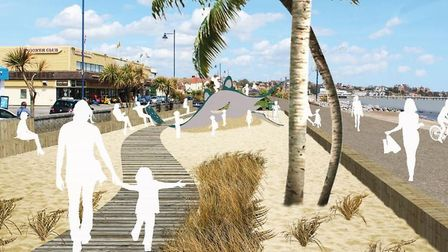 An artist's impression of how part of the revamped gardens could look Picture: SUFFOLK COASTAL DISTR