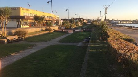 Part of the souther part of Felixstowe seafront that would benefit from the £1million revamp Picture