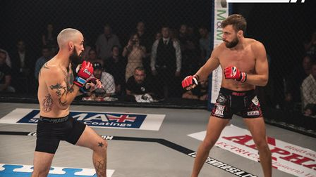 Scott Butters, left, faces Kim Thinghaugen in the main event of Contenders 24. Picture: BRETT KING