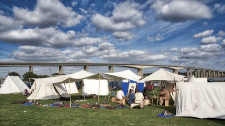 Viking groups from all over Britian came to Suffolk and camped out for the tournament Picture: BARRY