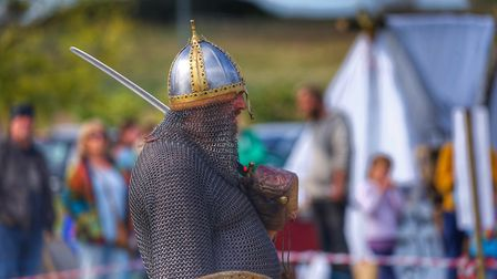 It is hot inside that chainmail Picture: BARRY PULLEN