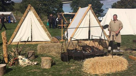 More enthusiasts with authentic tents and Viking utensils Picture: ARCHANT