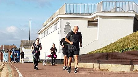 Runners along the promenade at the Clacton Seafront parkrun, which will celebrate its 100th event th