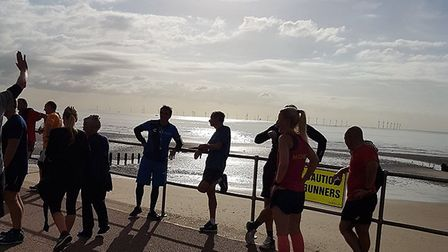 Runners enjoy the early morning sunshine at Saturday's Clacton Seafront parkrun. Picture: CLACTON SE
