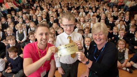 Reide Laws is Kyson Primary's Golden Ticket winner for the new Film Feast Suffolk festival Picture: