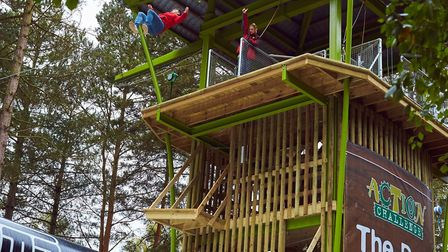 The Drop at Center Parcs' Elveden Forest holiday and leisure village... one more thing grandma didn'