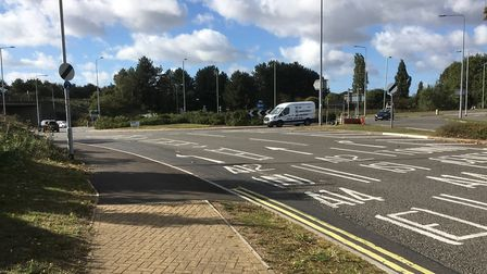 Roadworks have improved the entrance to The Havens on Ransomes Europark in Ipswich. Picture: PAUL GE