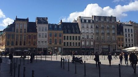 A town square in Lille. Picture: Ruth Ellis