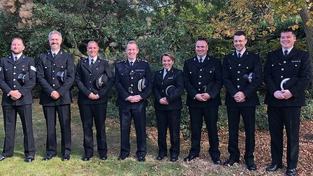 Officers from Essex Police were recognised for their work with victims of Hurricane Irma Picture: ES