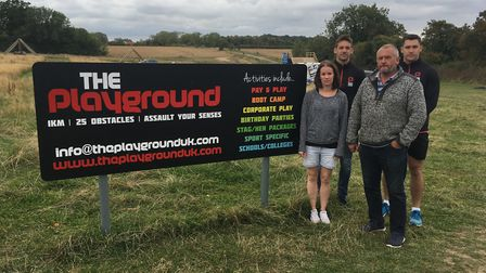 Pictured at The Playground in Barrow following the raid are Nick and Phil Smith with Sarah Moore fro