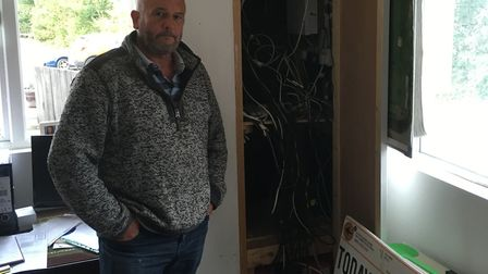 Owner Glen Moulds at The Academy in Barrow following the raid Picture: RUSSELL COOK