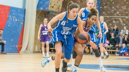 Ipsiwch captain Amy Linton hit five three-pointers against Oxford. Picture: PAVEL KRICKA
