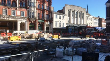 Work on Ipswich Cornhill is nearing completion. Picture: PAUL GEATER