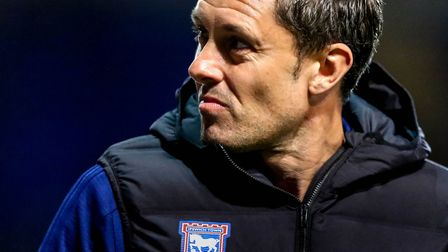 Town manager Paul Hurst still hasn't won a game since taking over at Portman Road. Picture: STEVE WA