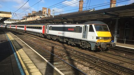 The Intercity train was heading from Ipswich to Norwich. Picture: PAUL GEATER
