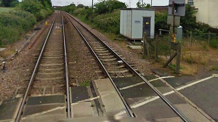 The incident happened near Burston level crossing. Picture: GOOGLE MAPS