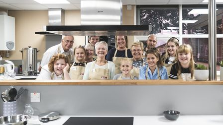 Grandparents and their grandchildren try out the new community kitchen in Haverhill Picture: HUBBUB